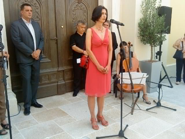 Otvorenje izložbe 'Pula - rađanje grada' - autorica izložbe dr. sc. Alka Strarac. Foto: Ada Jukić.