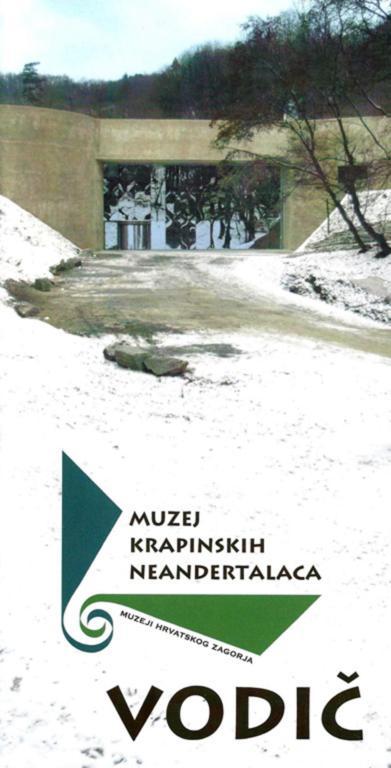 Naslovnica 'Vodiča' Muzeja krapinskih neandertalaca.