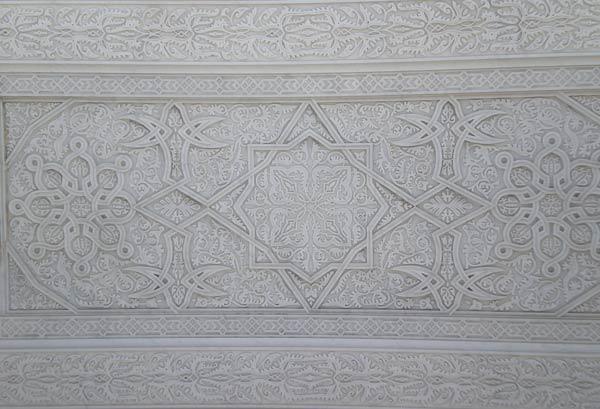Maroko, Rabat - Detalj mramorne čipke na Mauzoleju Mohameda V.
