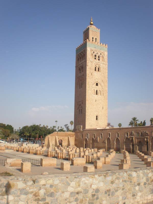 Maroko, Marrakech - Džamija Koutoubia.