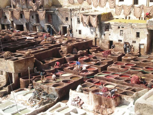 Maroko, Fes -  Bojaonica kože.
