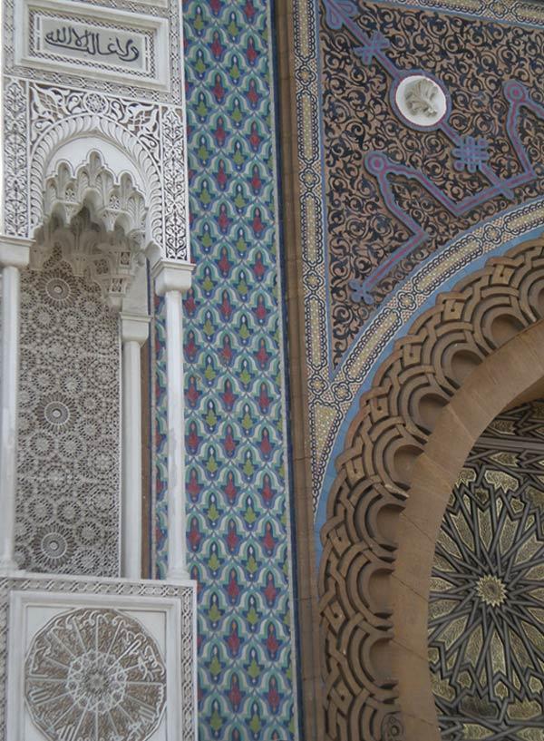 Maroko, Casablanca - Detalj fasade Kraljevske palače.