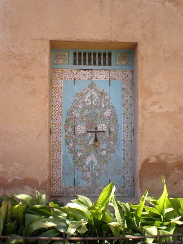Maroko, Rabat - Jedna od najljepših vrata Oudaia Kasbe.