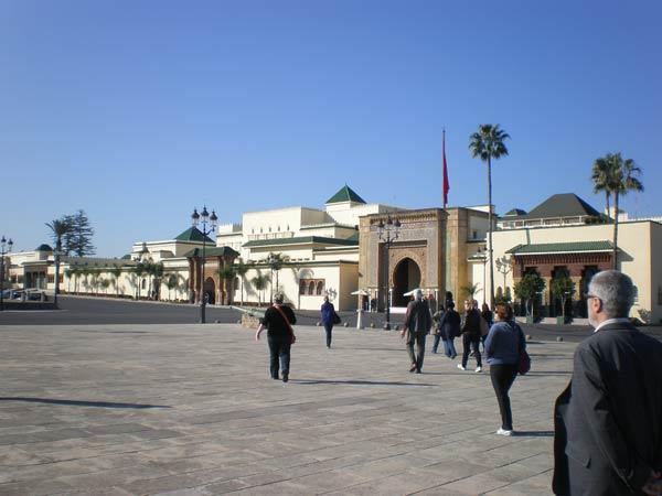 Maroko, Rabat - Kraljevska palača Dar el Makhzen.