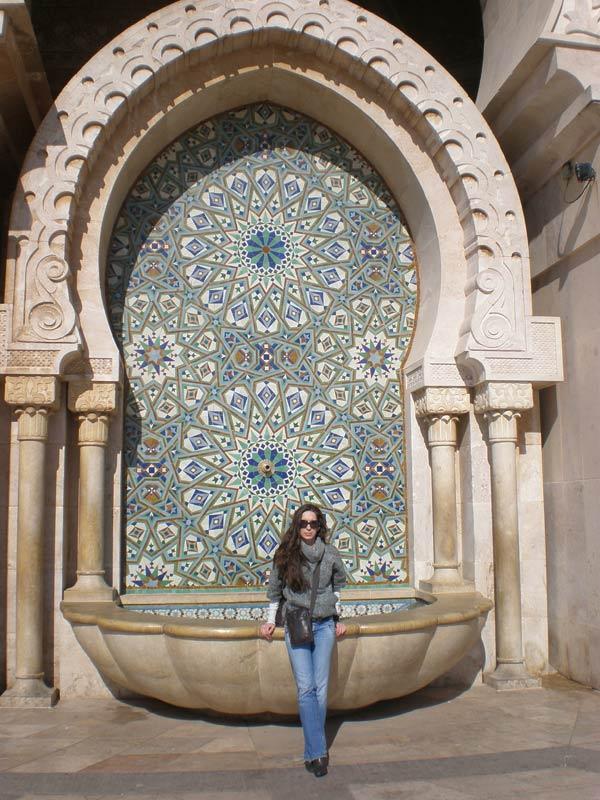 Maroko, Casablanca - Ispred džamije Hasana II.