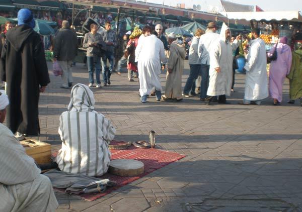 Maroko, Marrakech - Krotitelj zmija Djemaa el Fna.