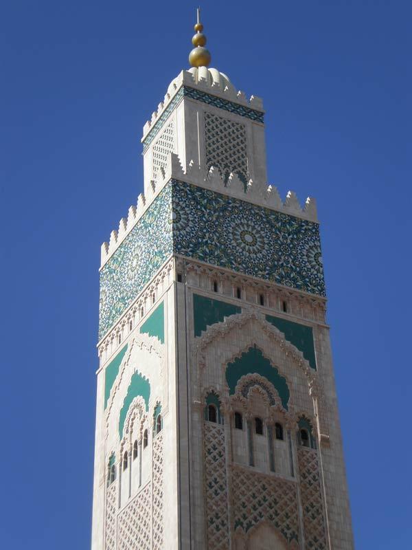 Maroko, Casablanca - Minaret džamije Hasana II.