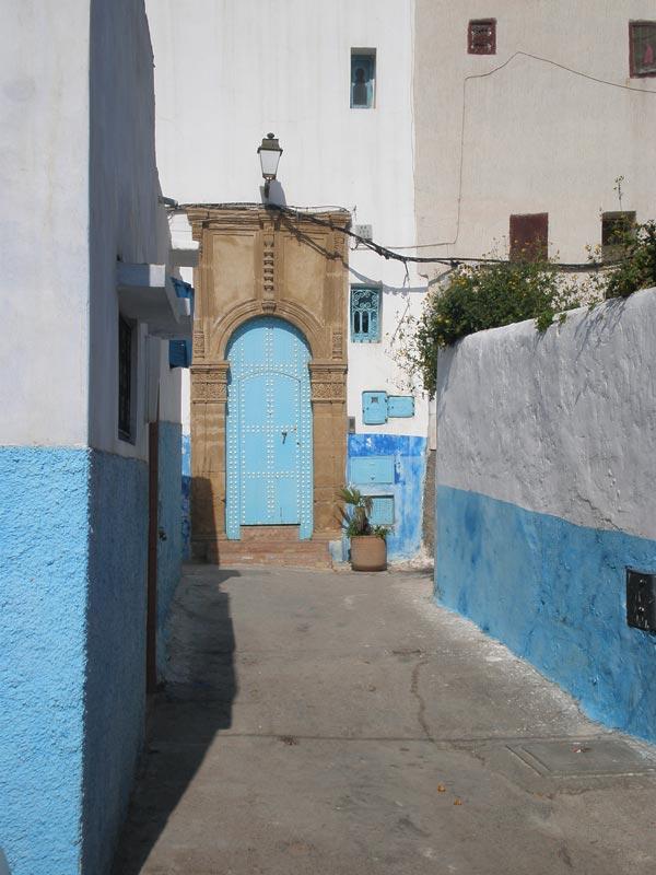 Maroko, Rabat - Tipična ulica u Oudaia Kasbah.