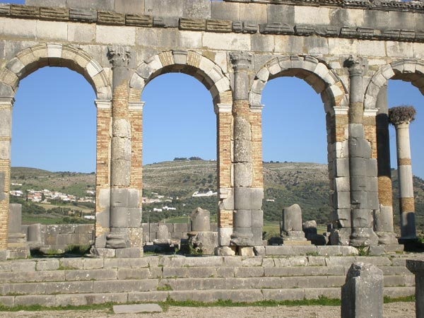 Maroko, Volubilis - Basilica.