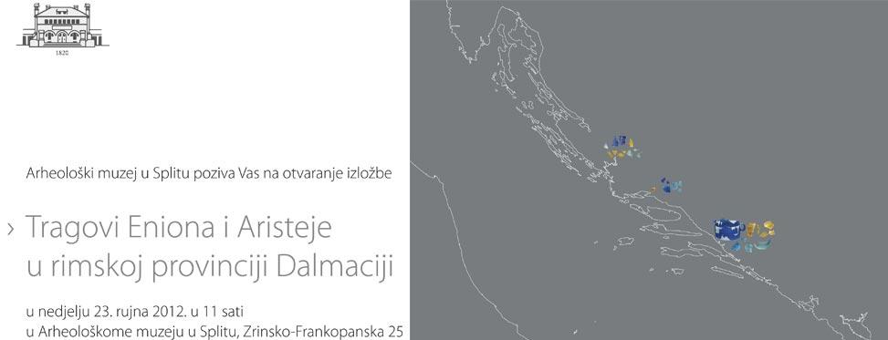 AMS - Poziv na otvorenje izložbe 'Tragovi Eniona i Aristeje u rimskoj provinciji Dalmaciji'. Izvor: AMS PRESS.