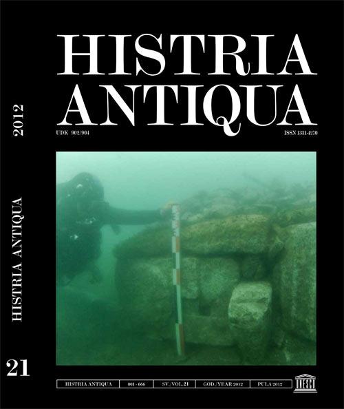 Naslovnica publikacije Histria Antiqua 21/2012. Ustupila: Kristina Džin.