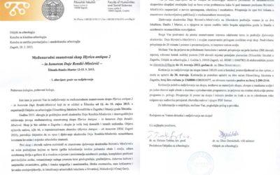 FFZG, MGŠ – Međunarodni znanstveni skup 'Illyrica antiqua 2 – in honorem Duje Rendić-Miočević' – Poziv na sudjelovanje