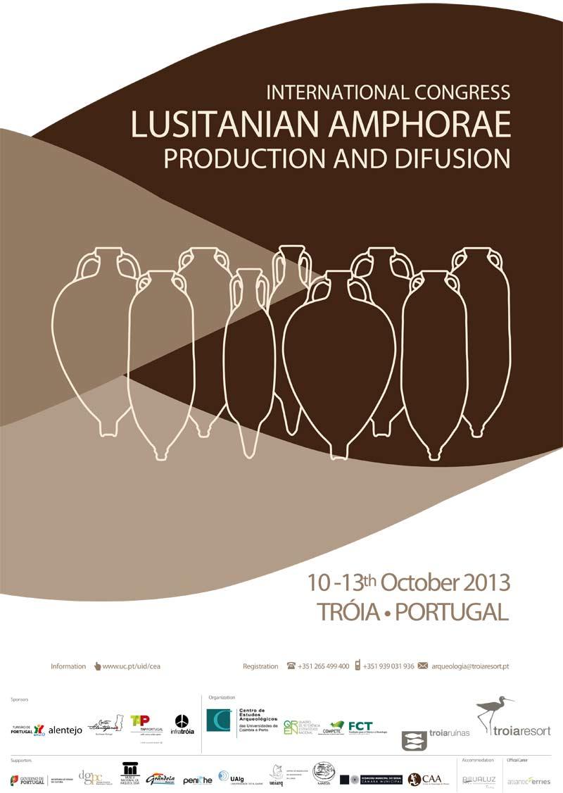 TROIA Resort Arqueologia - Plakat Međunarodnog kongresa: Lusitanske amfore - Produkcija i širenje. Ustupio: TRA PRESS.
