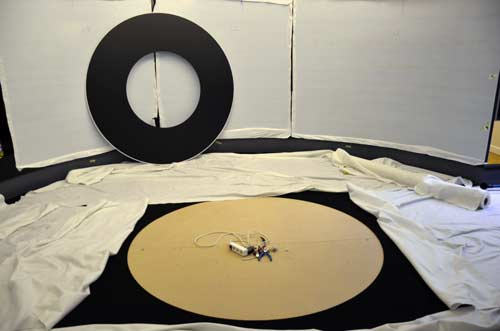 MGML - Postavljanje izložbe 'KOLO, 5200 let' - Prostorije izložbe - Pozicija izložbenog položaja kotača. Foto: VJB.