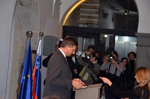 MGML - Otvorenje izložbe 'KOLO, 5200 let' - predsjednik Republike Slovenije Borut Pahor. Foto: VJB.