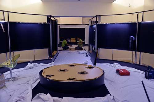 MGML - Postavljanje izložbe 'KOLO, 5200 let' - Prostorije izložbe - Pogled na proces postavljanja. Foto: VJB.