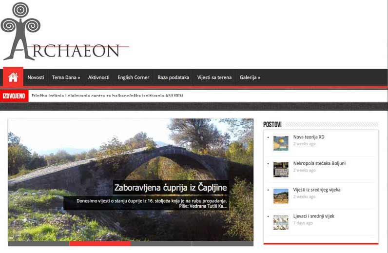 ARCHAEON - Prvi arheološki portal Bosne i Hercegovine.