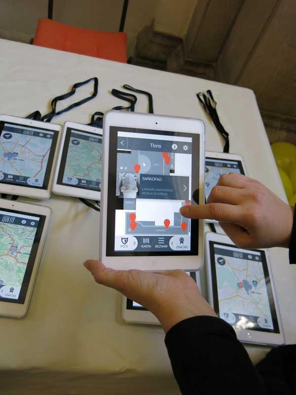 NMS - Mobilna aplikacija Slovenian History Quest. Ustupio: NMS PRESS.
