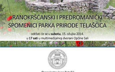 Sveučilište u Zadru – Predavanje 'Ranokršćanski i predromanički spomenici Parka prirode Telašćica'