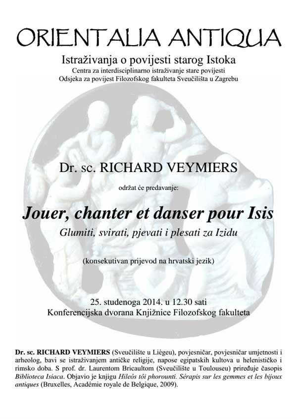 FFZG - Odsjek za povijest - Plakat predavanja dr. sc. Richarda Veymiersa. Ustupio: FFZG PRESS.