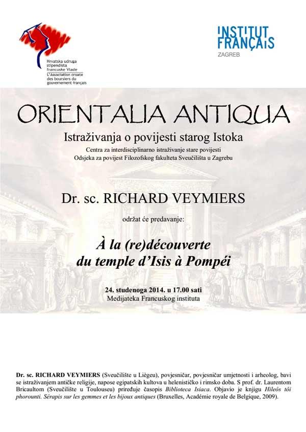 FFZG - Odsjek za povijest - Plakat predavanja dr. sc. Richard Veymiersa. Ustupio: FFZG PRESS.