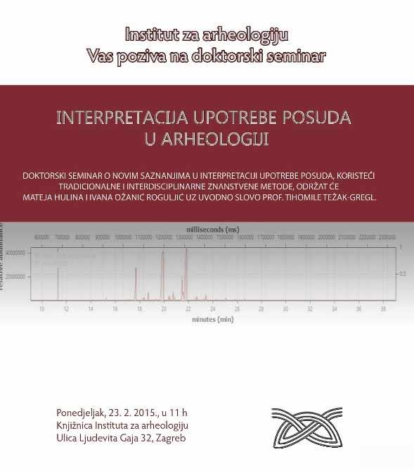 IARH - Poziv na seminar - Interpretacija upotrebe posuda u arheologiji. Ustupio: IARH PRESS.