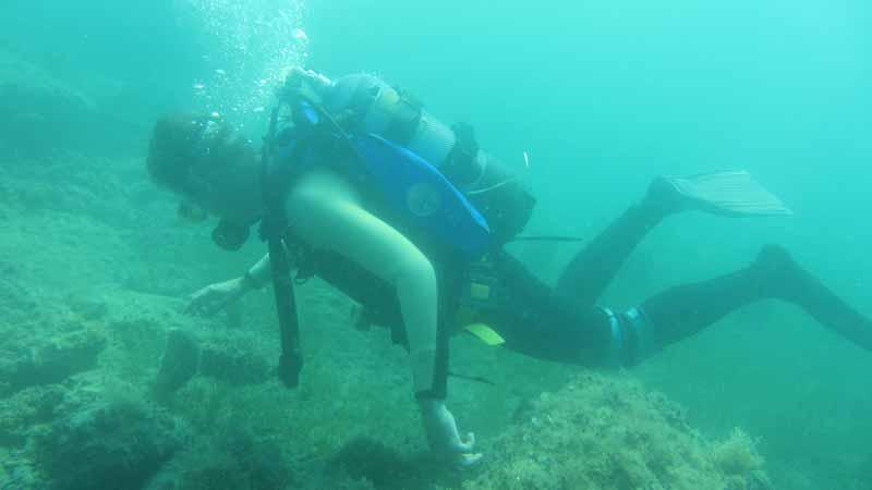 AS - Ronjenje na području arheoparka Simonov zaliv. Ustupio: AS PRESS.