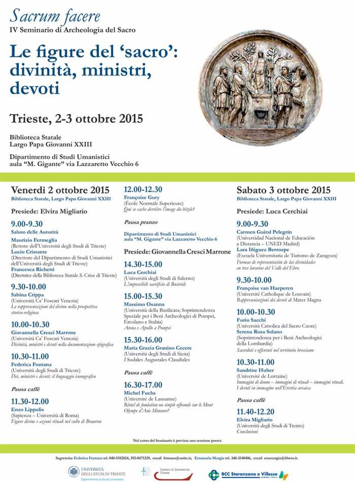 UNITS - IV Seminario di Archeologia del Sacro. Ustupila: FF.