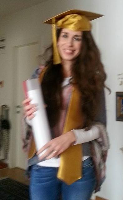 Kristina Dragčević Gwirtzman nakon obrane.