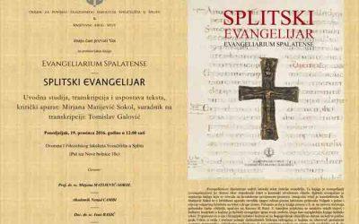 FFST – Predstavljanje knjige 'Splitski evangelijar' / 'Evangeliarium Spalatense' (PRESS)